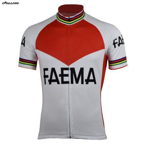 1969 Eddy Merckx FAEMA Cycling Jersey Retro Road Pro Clothing MTB Short Sleeve