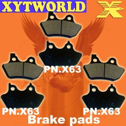 FRONT+REAR Brake Pads for HARLEY DAVIDSON FXDWG Wide Glide 2000 2001 2002 2003