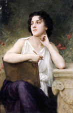 Oil painting Bouguereau - Inspiration Young artists in painting in field canvas