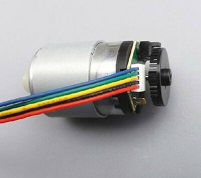DC ​​motor with encoder Speed ​​gear motor Speed ​​encoder code disk 41 PR lines