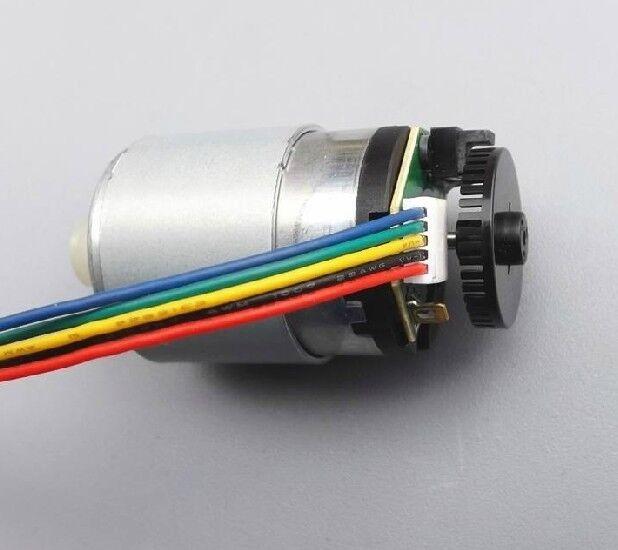 DC motor with encoder Speed gear motor Speed encoder code disk 41 PR lines