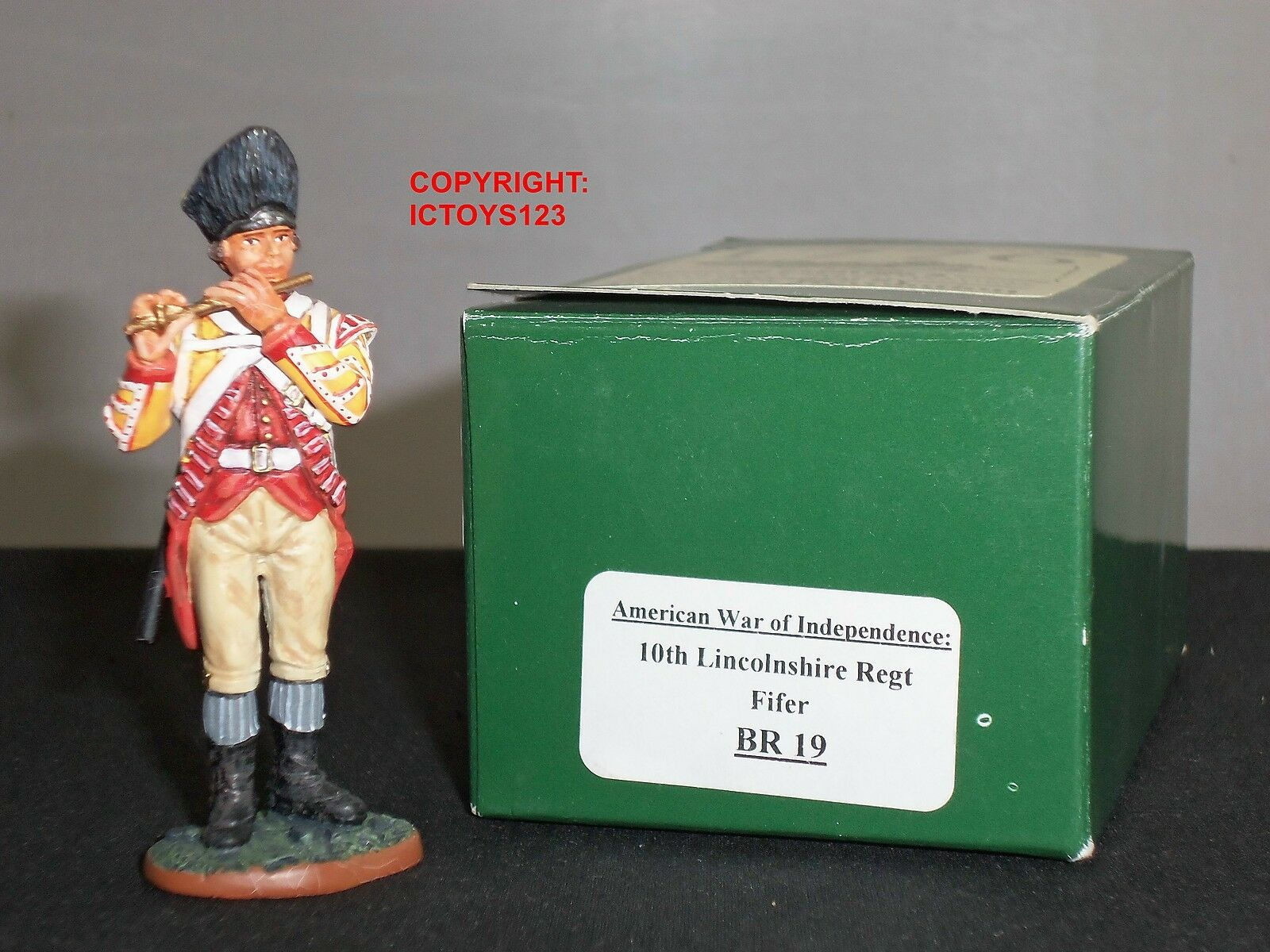 KING AND COUNTRY BR19 10TH LINCOLNSHIRE REGIMENT FIFER METAL TOY SOLDIER FIGURE