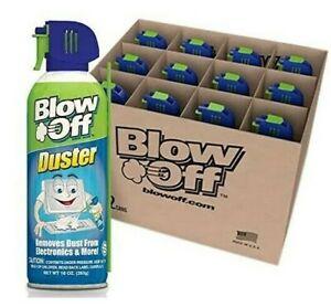 Blow-Off Compressed Air Duster 10 oz. B08BTT4R6B - 12 Cans