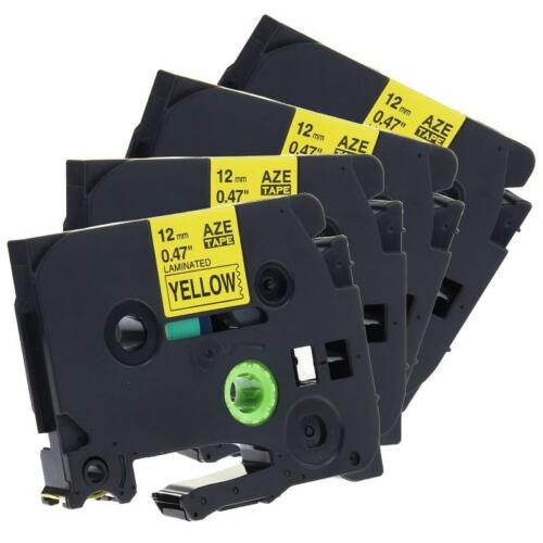 TZe-631 TZ-631 Compatible for Brother P-touch Label Tape Laminated 12mm 4pk