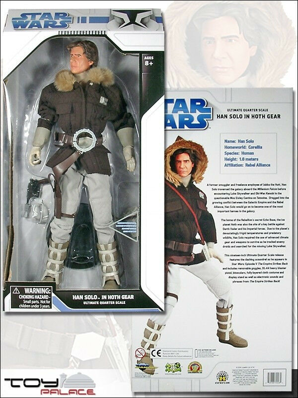 Star Wars Ultimate Quarter Scale Empire Hoth Han Solo Action Figure