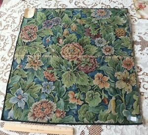 Antique-French-Cotton-amp-Wool-Tapestry-Fabric-034-Aubusson-Style-034-c1900-1920-20-034-X24-034