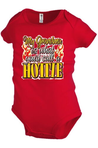 My Grandma Hottie Infant Baby Funny Graphic one-piece Snapsuit KP93