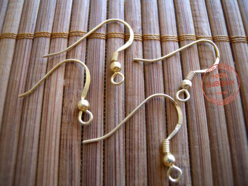 Monachelle per Orecchini Ganci color Oro Dorato  ANALLERGICHE Argento Indiano