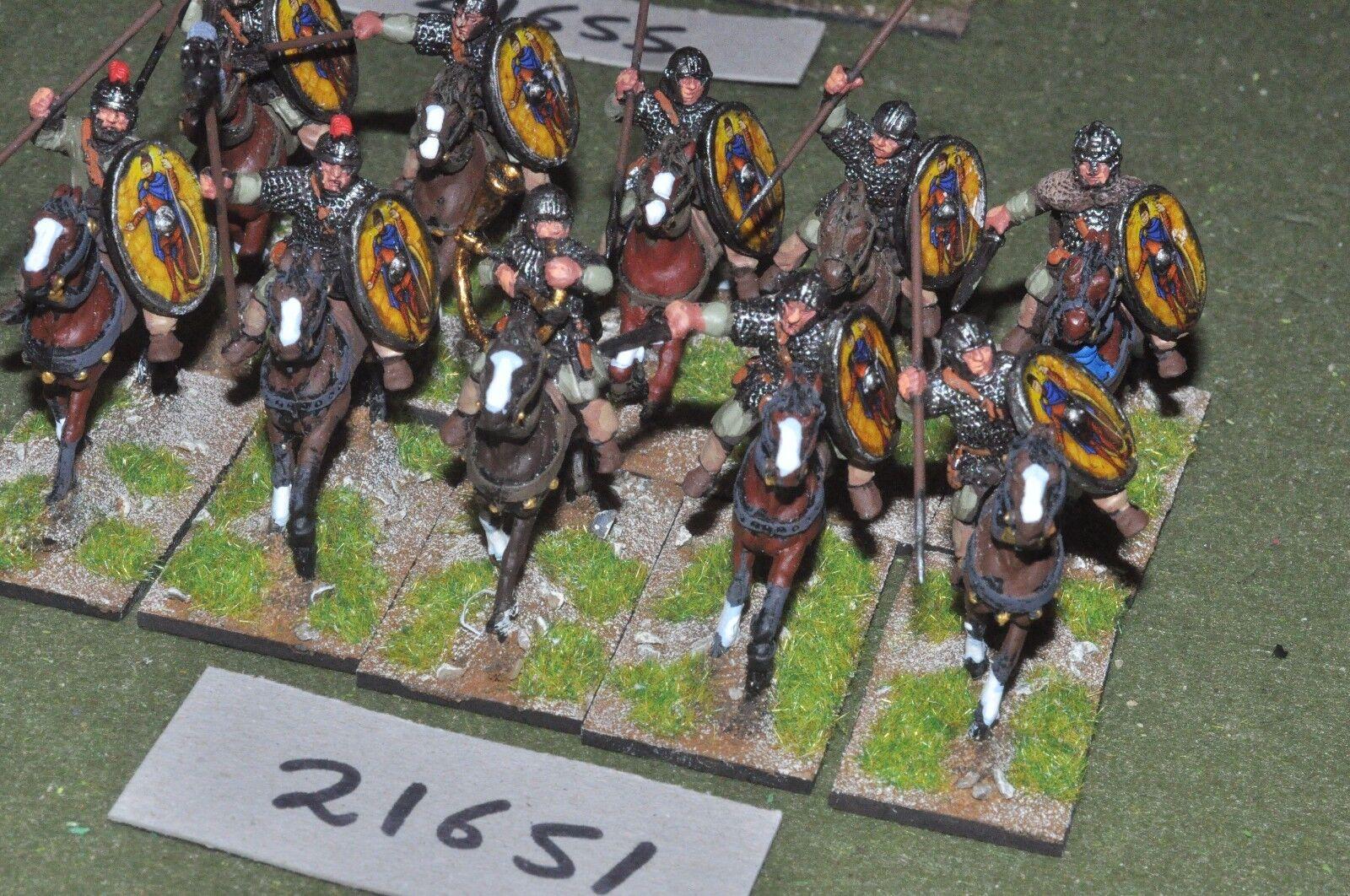 25mm roman era   roman - auxiliary 10 figs cavalry - cav (21651)
