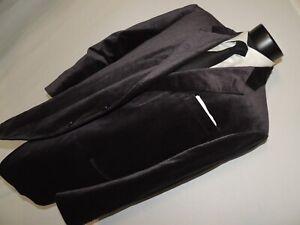 Stunning-Armani-Collezioni-men-039-s-Black-VELVET-jacket-coat-46-L