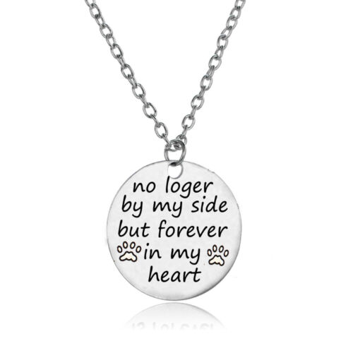 Family Necklace Heart Dog Paw Prints Pendant Bracelet Keyring Charm Memory Gifts