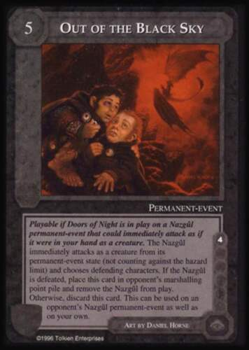 MECCG CCG Middle-earth Out of the Black Sky Dark Minions DM MINT
