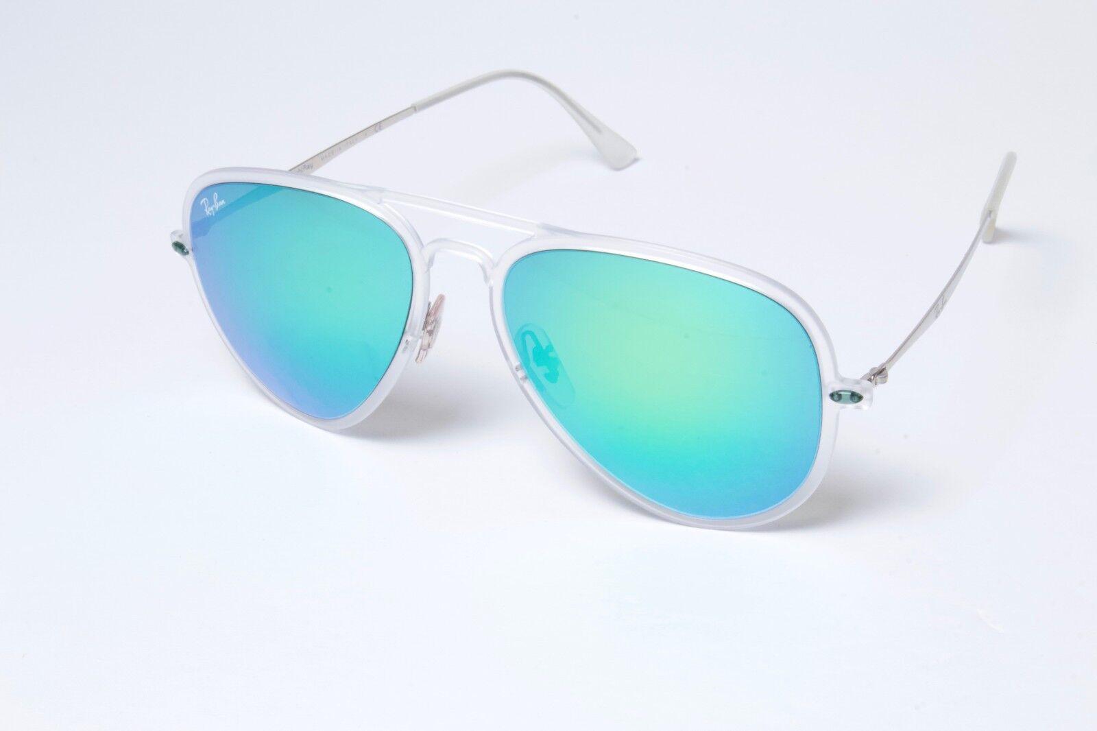 bdcbd01ef0 Ray-Ban Sunglasses Aviator Light Ray II Silver Green Mirror Lens ...