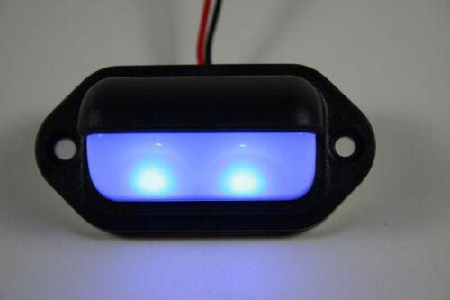 Waterproof LED Convenience Courtesy Light BLUE LED Compact 24 Volt DC Fixtu