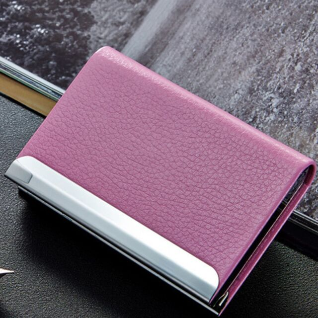 Fashion Waterproof Card Holder Personality Business Card Storage Box Metal Core