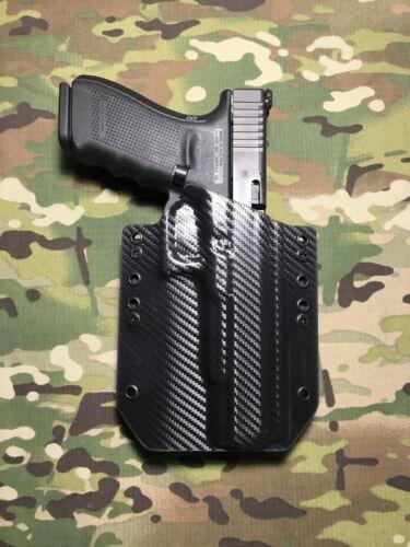 Black Carbon Fiber Kydex Holster for Glock 40