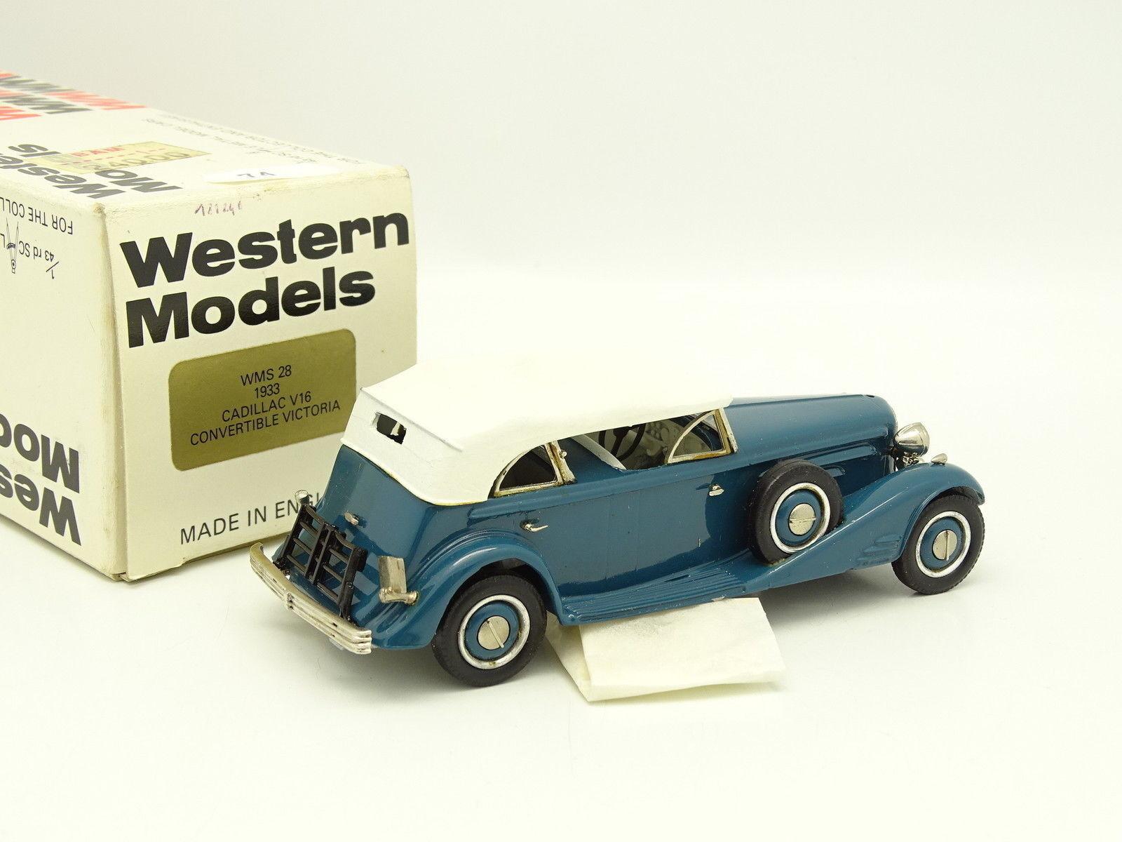 Western Models 1 43 - Cadillac V16 Victoria bluee 1933 1933 1933 1ce5f7