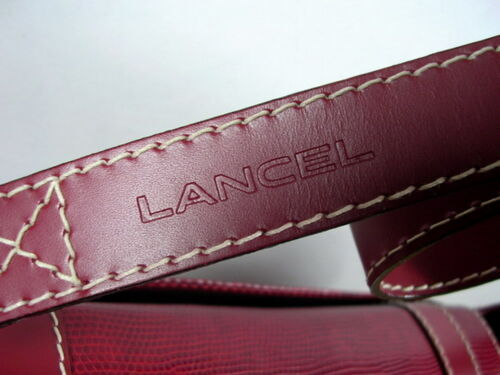 Sac Lancel Rouge 1990 A Vers Bandouliere F4qwvd8