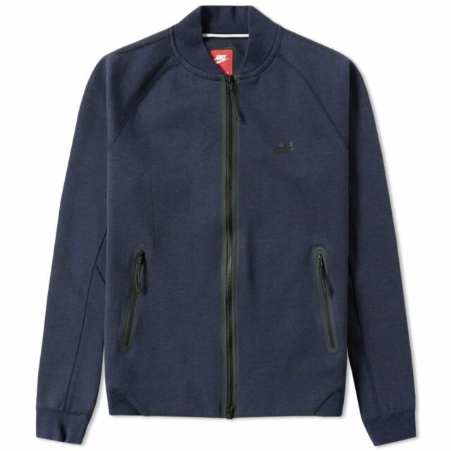 Nike Tech Fleece Varsity Jacket 1mm [678508 473] Medium Blau UVP £ 90