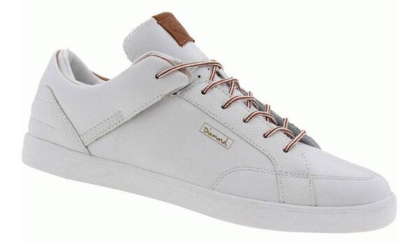 diamond fornire co. vvs mens pattinare le scarpe (nuovo) dimensioni dimensioni (nuovo) 11.5-13 bianco / pelle marrone 818071
