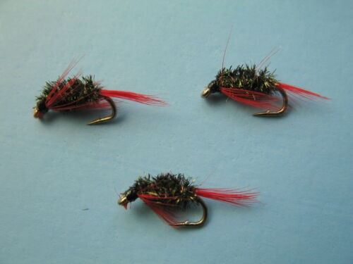 16 available 3 X DIAWL BACH RED DEVIL NYMPH WET TROUT FLIES sizes 10 14 12