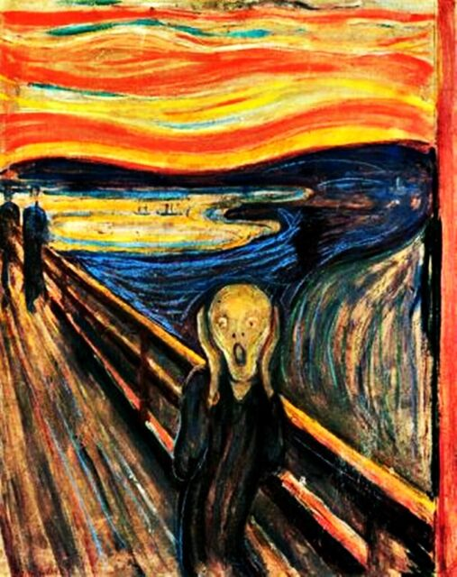 The Scream, a painting by Edvard Munch Sticker