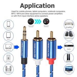 5M-3-5-mm-Stereo-Klinken-Audio-Klinke-AUX-Kabel-Stecker-fuer-iPhone-Handy-PC-Auto