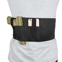 Versatile Concealed Carry Belly Band Holster With Magazine Pouch For Glock Ruger