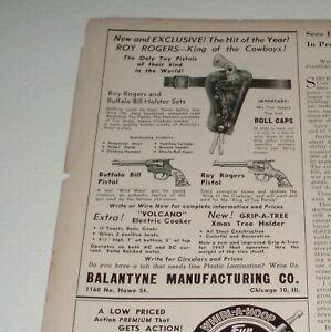 1950's ROY ROGERS CAP GUNS Toy Trade Magazine ad