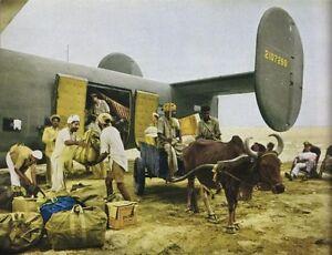 COLOR-WW2-Photo-C-87-Unloading-in-India-WWII-B-24-CBI-World-War-Two-India