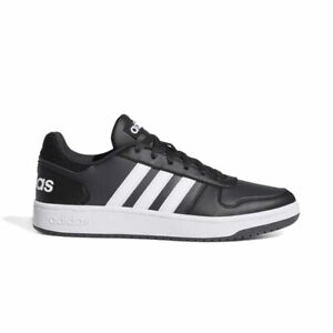 Dettagli su Scarpe Adidas Hoops 2.0 Nere e Bianche