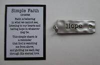 U Hope Simple Faith Pocket Charm Pendant Token Zipper Pull Cross Heart Ganz