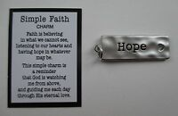 U Hope Simple Faith Pocket Charm Pendant Token Zipper Pull Cross Heart Ganz