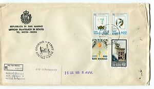 1985 Fdc San Marino 18°congr.fiap Helsinki Gioventù Raccomandata First Day Cover Remises Vente