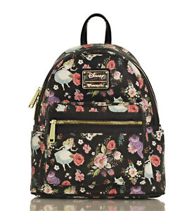 d2fa61cbe883 Image is loading Loungefly-X-Disney-Alice-in-Wonderland-Character-Floral-
