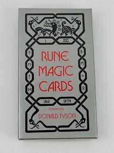 Vintage Rune Magic Cards Donald Tyson 1989 LWB Occult Divination Rare EUC CIB
