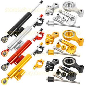 For YAMAHA YZF R1 R6  2009-2015 Steering Damper Stabilizer Mounting Bracket CNC