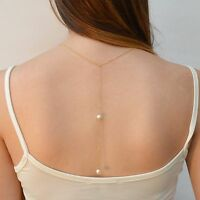 Necklace Wedding Back Drop Pearl Bridal Jewelry Body Chain Backdrop Lariat