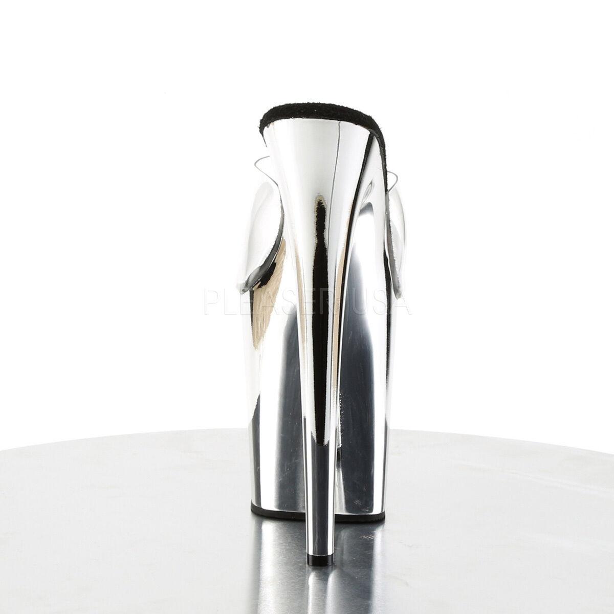 Sexy Silver Chrome Platform Schuhes 8