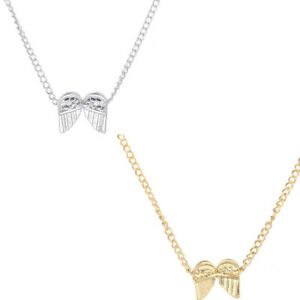 Short-Necklace-Angel-Wings-Clavicle-Pendant-Light-Metal-Accessories-Gift