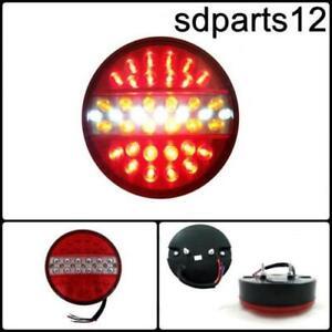 1x-12V-Feu-LED-Arriere-Lampe-Rond-Hamburger-Remorque-Caravane-Camion-4-Fonctions