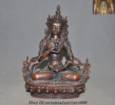 "Antiques Asian Antiques 8"" Old Tibetan Buddhism Bronze Vajrasattva Phurpa Tara Kwan-yin Buddha Statue"