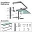 GeekDigg-Bathroom-Shelf-Tempered-Glass-Floating-Shelves-Wall-Mounted-Storage thumbnail 6