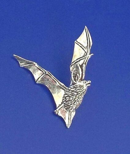 /'Long-Eared Bat/' English pewter pin badge.
