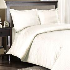 1500 Thread Count Egyptian Cotton PILLOW CASE Set Standard / Queen Ivory Stripe