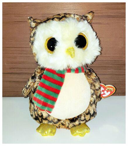 "NEW TY Beanie Boos 9/"" WISE Christmas Owl"