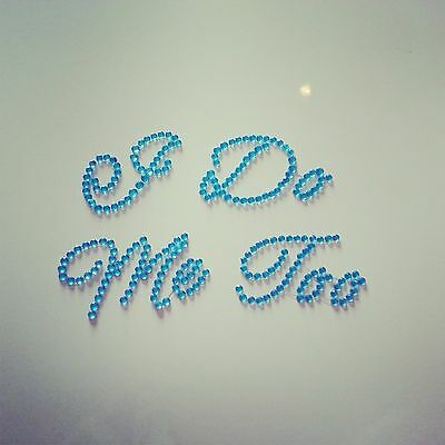 Mi & Me Too Scarpa Adesivi: Cristalli Di Diamante Matrimonio Scarpe Blu Sposa E Sposo-mostra Il Titolo Originale Aroma Fragrante
