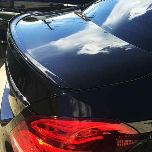 Painted Black For Audi A6 C7 Saloon 12-17 Boot Lip Spoiler S Type