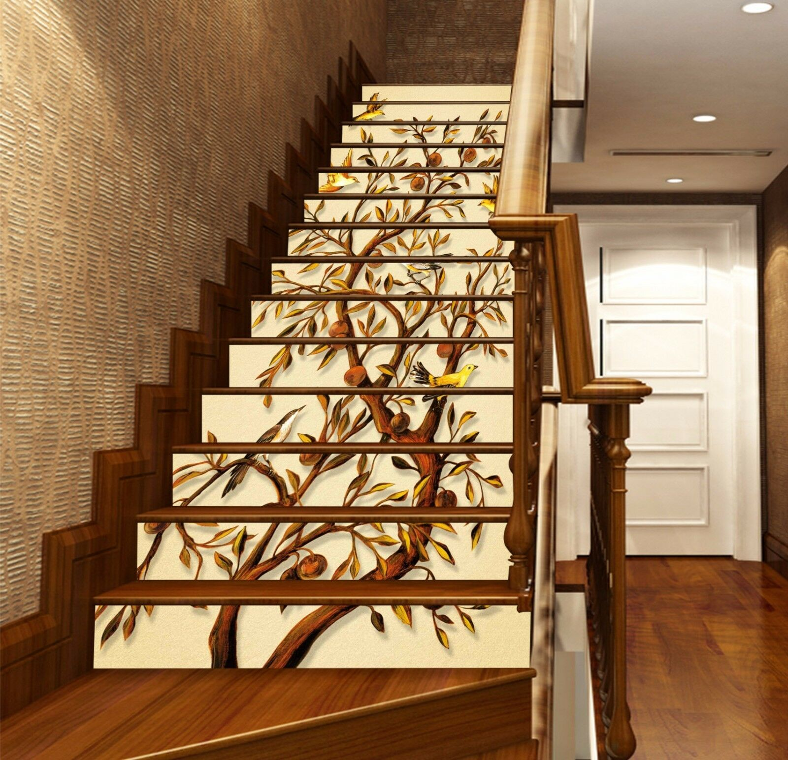 3D Trees And Birds 6234 Risers Decoration Photo Mural Vinyl Decal Wallpaper CA