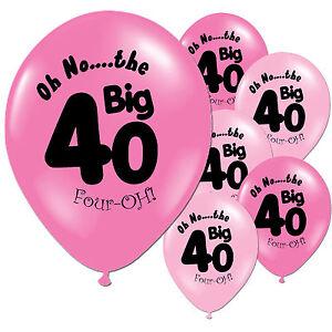 10-Fushcia-Baby-Pink-40th-Birthday-Party-11-034-Pearlised-Latex-Printed-Balloons